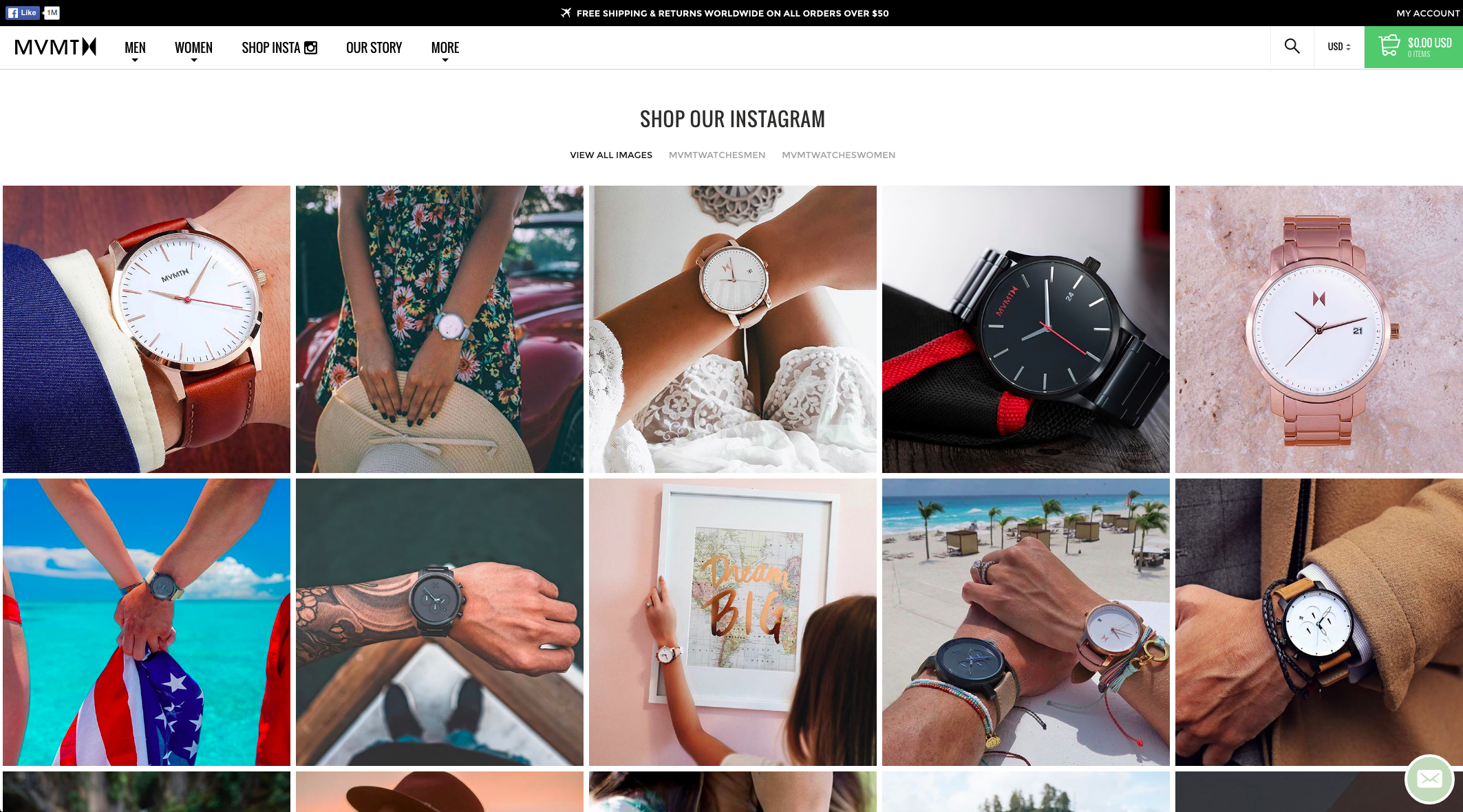 Image of Instagram feed with shopping feature