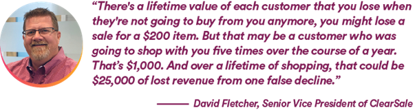 David Fletcher, Senior Vice President at ClearSale, talking about lifetime value