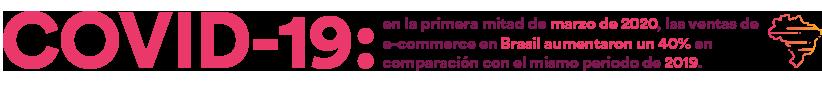 COVID-19: en la primera mitad de marzo de 2020, las ventas de e-commerce en Brasil aumentaron un 40% en comparación con el mismo periodo de 2019