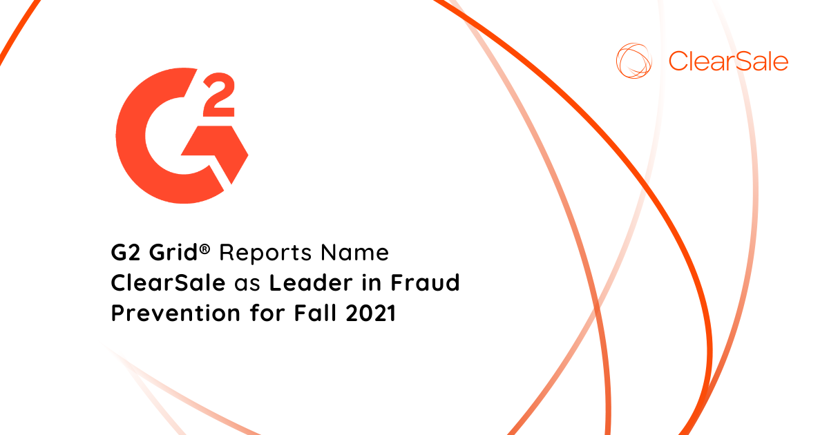 G2 Grid® Reports Name ClearSale as Leader in Fraud Prevention for Fall 2021
