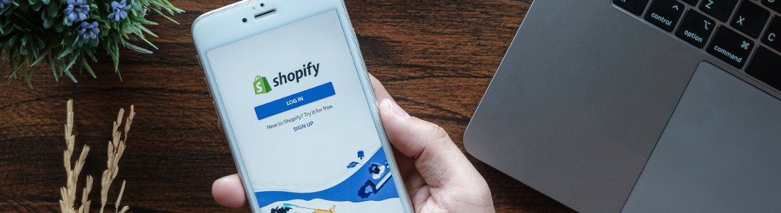 shopify app at the phone
