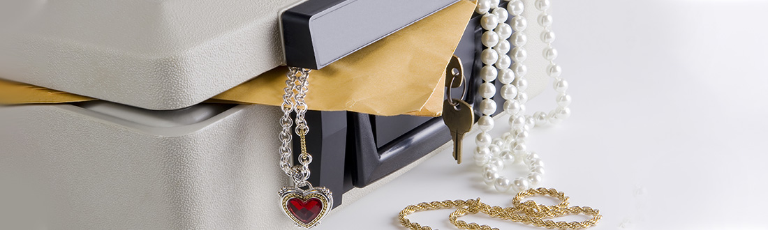 jewelry in a safe
