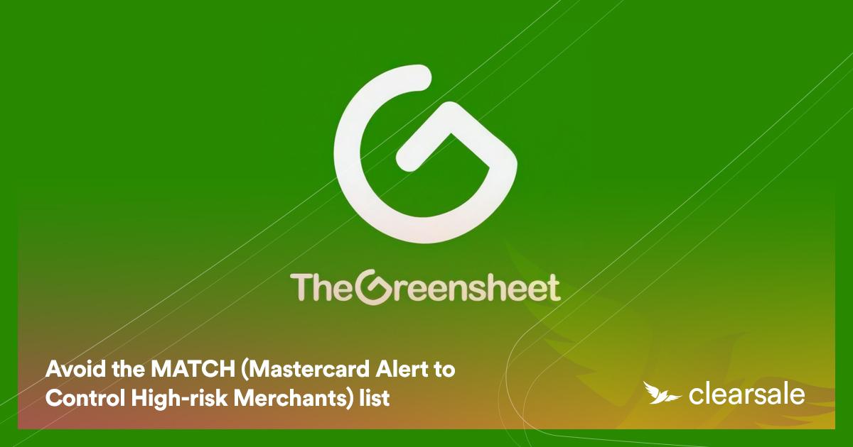 Avoid the MATCH (Mastercard Alert to Control High-risk Merchants) list