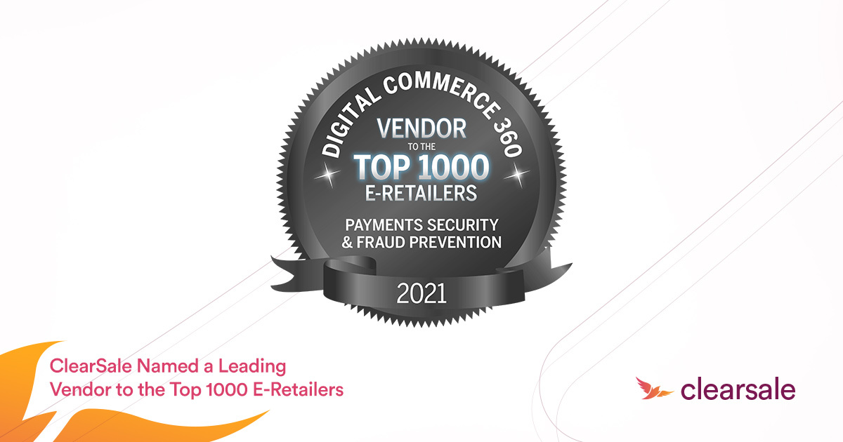 ClearSale Named a Leading Vendor to the Top 1000 E-Retailers