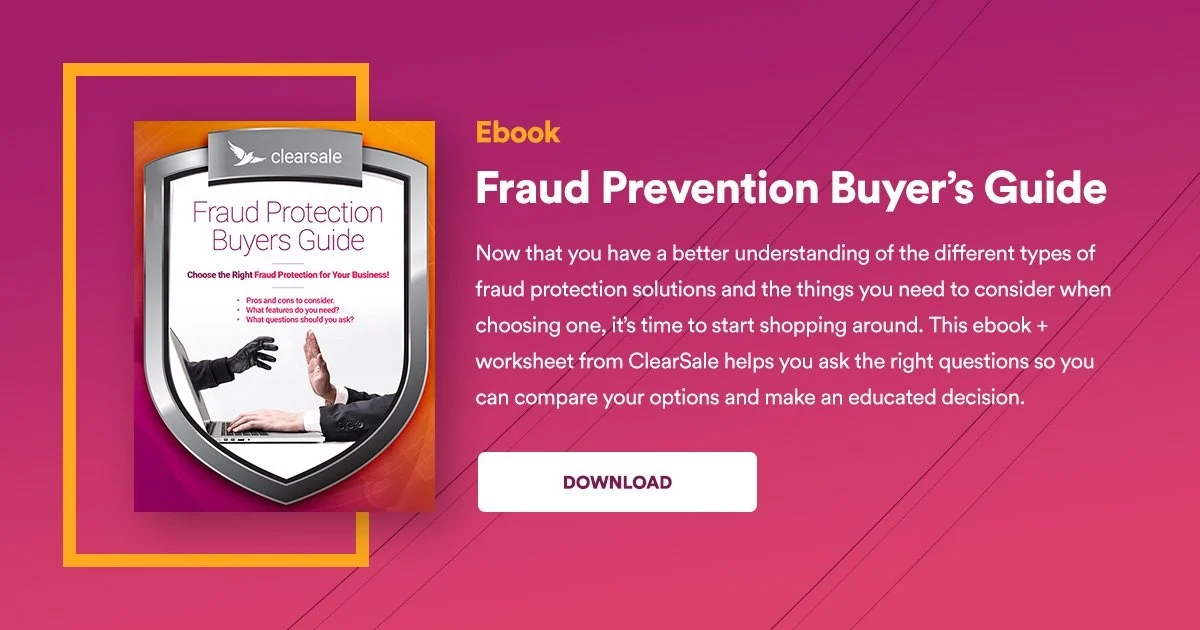 Ebook: Fraud Prevention Buyer's guide