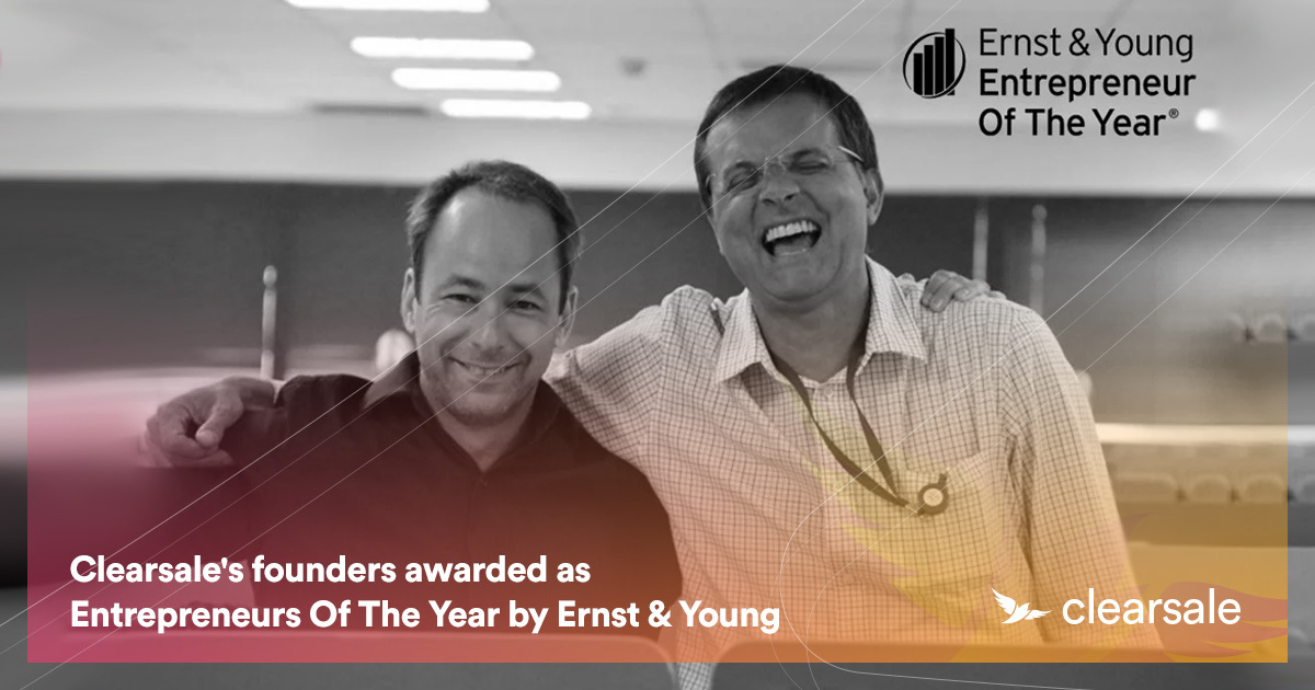 Clearsale's founders awarded as Entrepreneurs Of The Year byErnst&Young