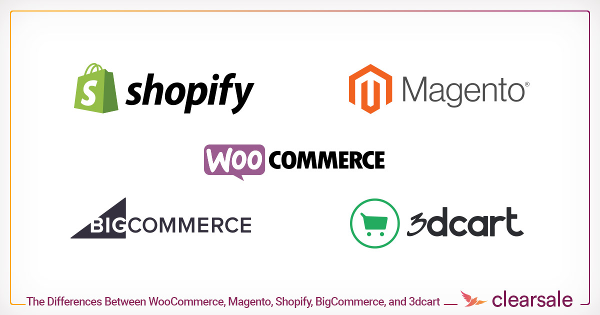The Differences Between WooCommerce, Magento, Shopify, BigCommerce, and 3dcart