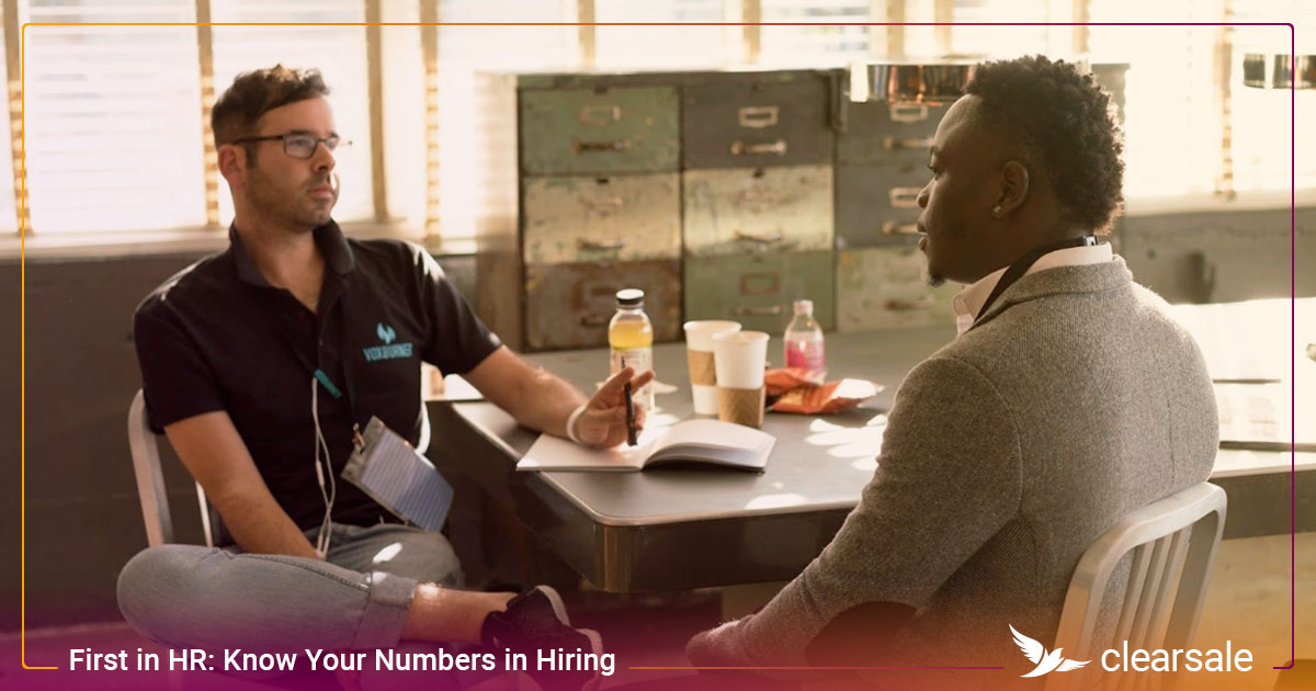 First in HR: Know Your Numbers in Hiring​