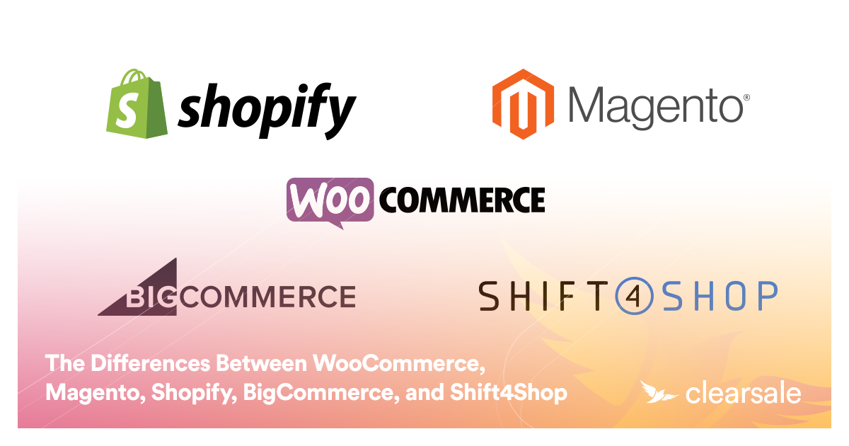 The Differences Between WooCommerce, Magento, Shopify, BigCommerce, andShift4Shop