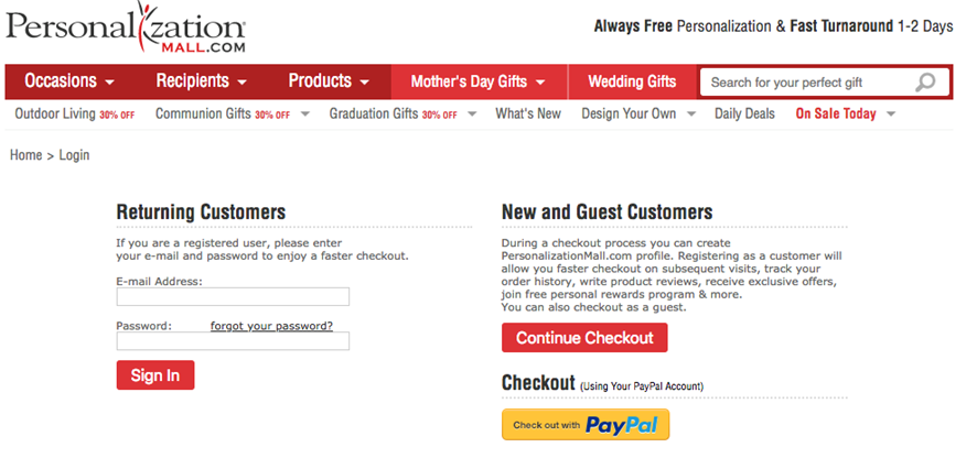 Allow Guest Checkouts