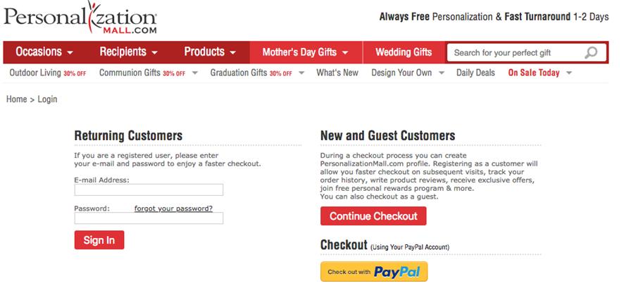 Allow Guest Checkouts
